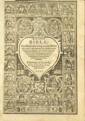 Bible Translated According To The Ebrew And Greeke / 1602 Bibles