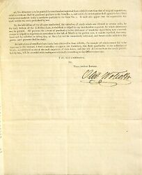 Oliver Wolcott / Circular To The Collectors And Naval Officers 1795 Americana