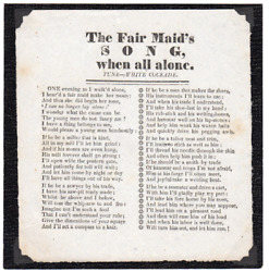 Solomon Howe / Fair Maidand039s Song When All Alone Tune White Cockade 1830 Poetry