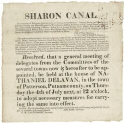 Job Foss / Sharon Canal At Meeting Of Delegates From The Town Of Sharon 1822