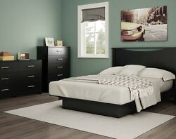 Black Queen Storage Platform Bed 4 Piece Bedroom Set Home Furniture Dorm Dresser