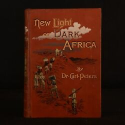1891 New Light On Dark Africa Dr Carl Peters First English Edition Illus Folding