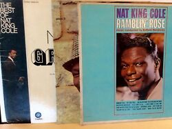 33 Rpm Lot Of 4 Records Nat King Cole Vintage Albums Lp Pickwick Capitol Record