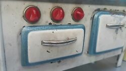 Vintage Toy Stove Oven Tin Metal 50and039s Dolland039s Toy Original Part Of Kitchen Set