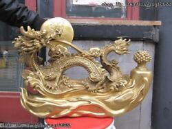 Sign Brass Copper Feng Shui Spit Water Blessing Lucky Auspicious Dragon Statue