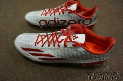 Brand New Mens 16 Athletic Football Adidas Adizero 5-star 4.0 White And Red Shoes