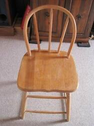 Antique Youth Child Chair Oak Bentwood