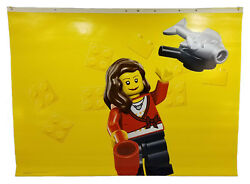 Lego Toys R Us Vinyl Retail Store Banner Female Minifig Display Sign 47.7 X 35