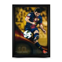 Lionel Messi Signed Autographed 50X34 Framed Photo