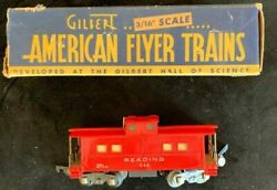 Vintage American Flyer Red Caboose Reading 630 With Box