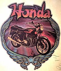 Original Vintage Honda Motorcycle Iron On Transfer Glitter  $19.50