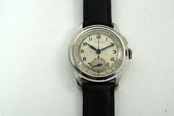 Tavannes Watch Co. Single Button Pulsations Chronograph Stainless Steel 1930and039s