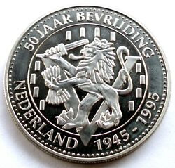 Netherlands 1945-1995 50th Anniversary Of Liberation Unc Medal 40mm 28.6g Nn7.1