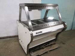 Bbq King Commercial Heated Lighted Full-service Hot Food Display Merchandiser