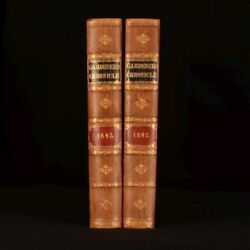 1843-1847 2vol Gardeners Chronicle Newspaper of Rural Economy Periodical Scarce