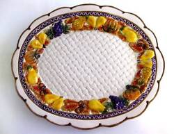 Vtg Omnibus By Fitz And Floyd Harvest Bounty Oval Serving Platter 14 ½ X 12 Inches
