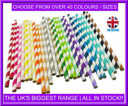 Biodegradable 8 200mm Paper Straws - For Cocktails Tumblers - Birthday Party