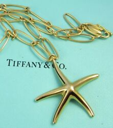 And Co 18k Yellow Gold Elsa Peretti Starfish Wide Chain 20.4 Gram Necklace