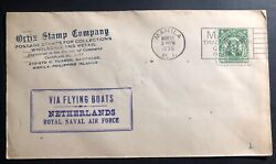 1935 Manila Philippines Commercial Cover Via Flying Boat Netherlands Air Force