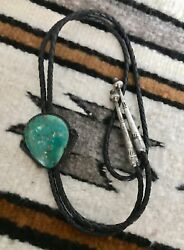 Very Fine Early New Mexico Native American Sterling Turquoise Bolo One Owner