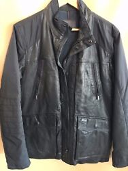 268 Tumi Alpha Leather And Polyester Trim Jacket Size S Msrp 1195