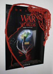 Wow, War Of The Worlds Prop Alien, Signed Tom Cruise, Spielberg Poster. Dvd, Coa