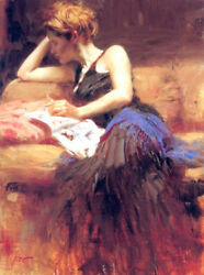 Pino S/n Embell Stretched Canvas Precious Time 32x24 Coa