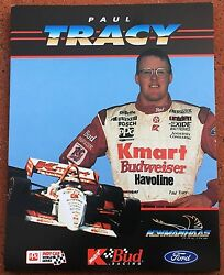1995 Paul Tracy Ppg Indy Car World Series 8 1/2 X 11 Handout Photo Racing