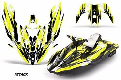 Jet Ski Graphics Kit Decal Wrap For Sea-doo Bombardier Spark 3 Up 15-18 Attck Y