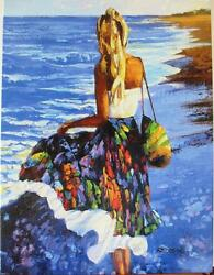 Howard Behrens My Beloved By The Sea Beach And Waves Embellished List 3995 Hs