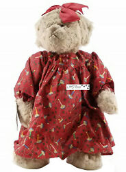 Vintage Ganz 1998 Cottage Collectables Becca Christmas Teddy Bear