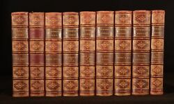 1844 - 1877 9vol Charles Dickens Oliver Twist Bleak House Dombey And Son Little