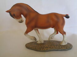Franklin Mint Great Horses Of The World Porcelain Clydesdale Horse Figurine