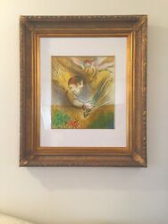 Marc Chagall signed lithograph L'ange du jugement The Angel of Judgment 1974