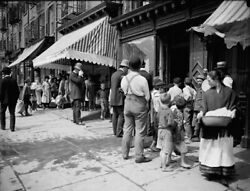 Free Ice New York City C1900. Policemen And Barefoot Kids Vintage Photo Reprint