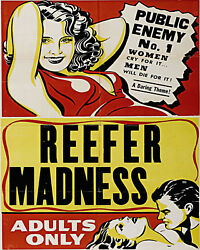 Reefer Madness 1930s Cult Classic Movie Poster Adults Only Anti Drug Propaganda