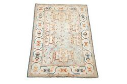 Antique 5X8 Cotton Agra Area Rug 1920's Hand-Knotted Oriental Carpet (5.1 x 7.9)