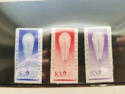 Russia 1933 , Stratostat , Air Mail, Sc C37-c39,mlh