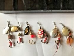 Mepps Pan Fish Kit Vintage Or Used Lures Spinners 3 -oand039s 3-1and039s