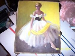 Vintage Margaret Fitzhugh Browne American Oil Painting The Yellow Scarf