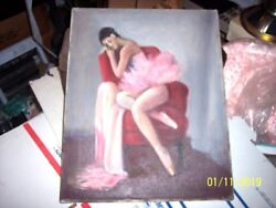 Vintage Margaret Fitzhugh Browne American Oil Painting After The Dance