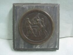 Antique Paper Weight In Stone And Metal Michelin Tire Company