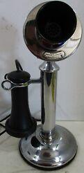 Western Electric Nickel Plated Candlestick Telephone Operational 1905