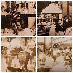 Vintage Antique Coca Cola Signs Chocolate Bagels Style Lamp In Il Photos