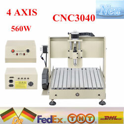 4 Axis CNC 3040 Router Engraver Engraving Drilling Milling CUTTER Machine 560W