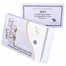 Empty Packaging Replacement Proof Presidential Dollar Set Box No Coins 2013