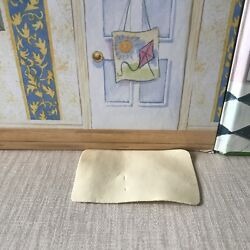 Vintage Sylvanian Families Replacement Mansion Spares   Cream Leather Door Mat