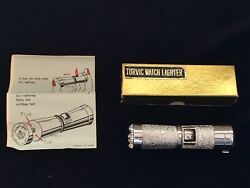 Vintage 1960s Torvic Combination Swiss Watch And Cigarette Lighter Mib