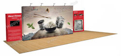 Trade Show Fabric Tension Quick Pop-up Exhibition Booth 30 Ft Wide 9ft Tall