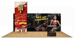 Trade Show Display 20ft Booth 12ft Fabric Tower Store Room Graphics Included